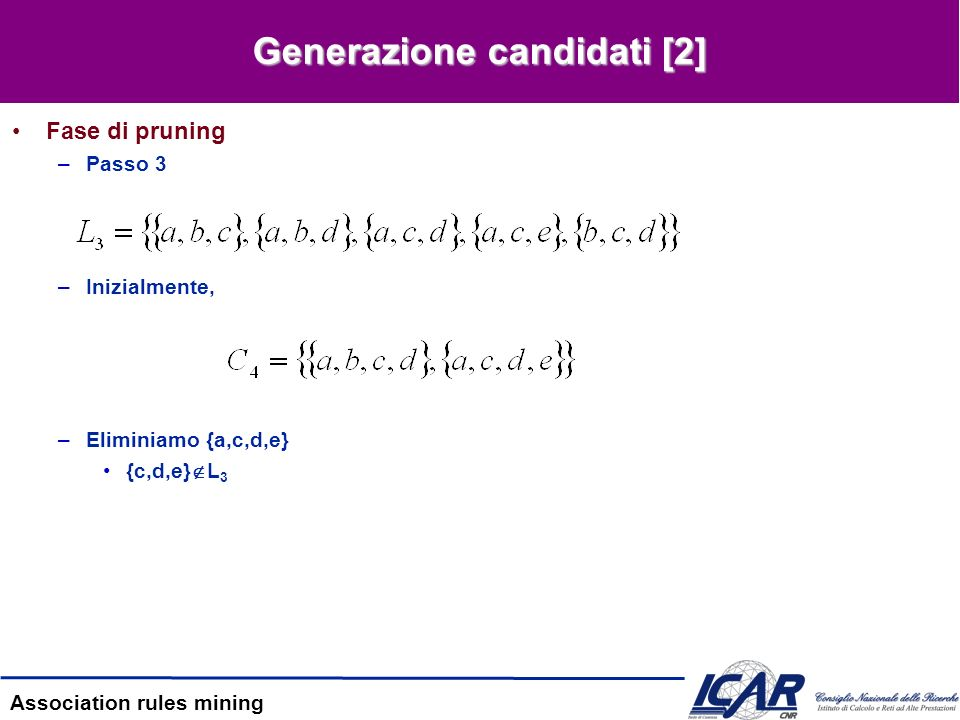 Generazione candidati [2]